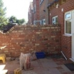Victorian wall and extension